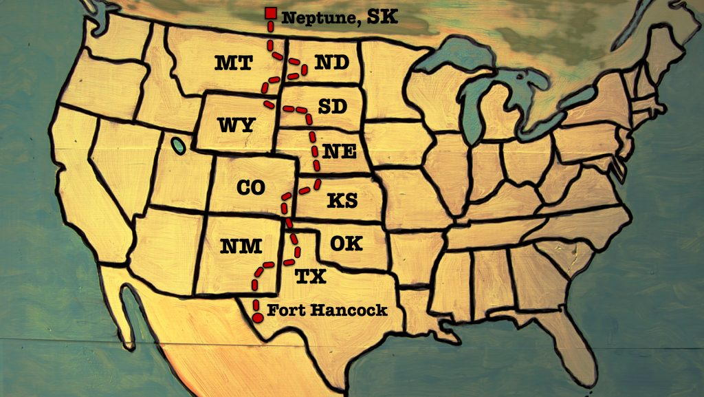 The route across America.
