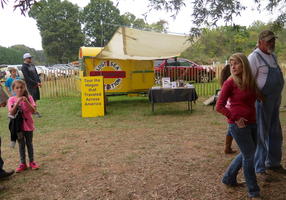 The Lost Sea Wagon on diislay at Saunders Family Farms Fall Festival