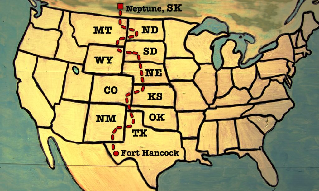 The route across America
