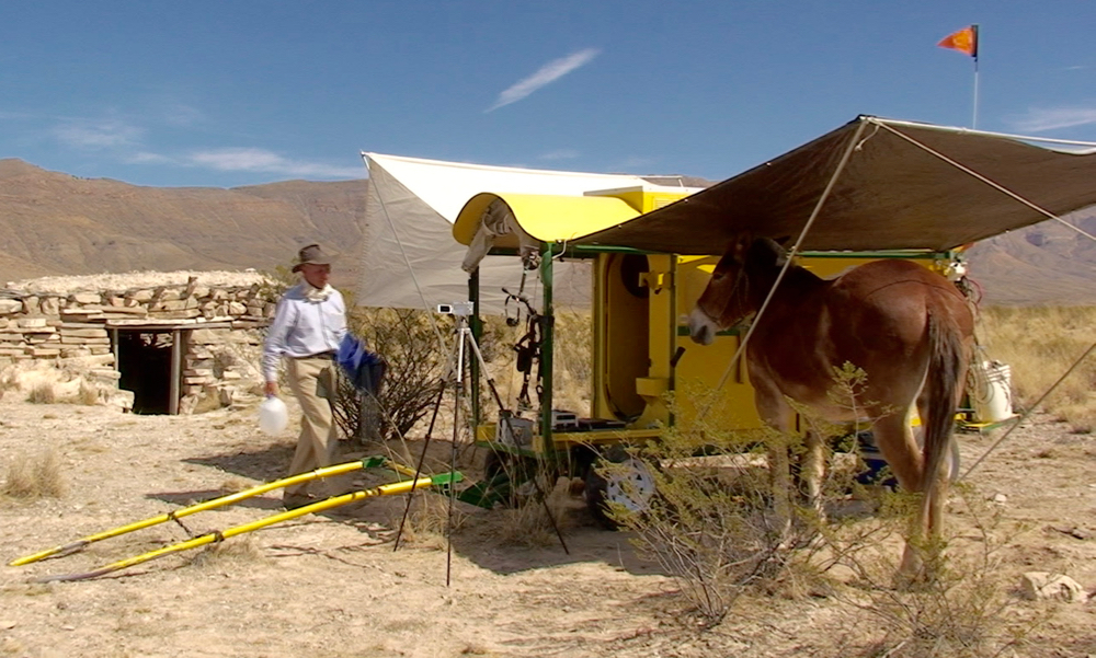 THe Lost Sea Expedition in our desert camp. Hudspeth Flats, Texas.