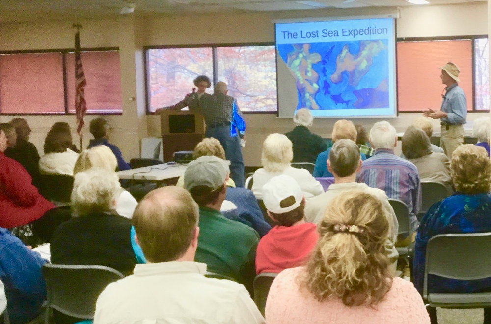 "A few of the folks that attended the recent ""Lost Sea Expedition"" program."