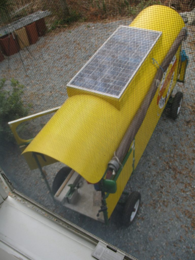 The solar wagon from above.