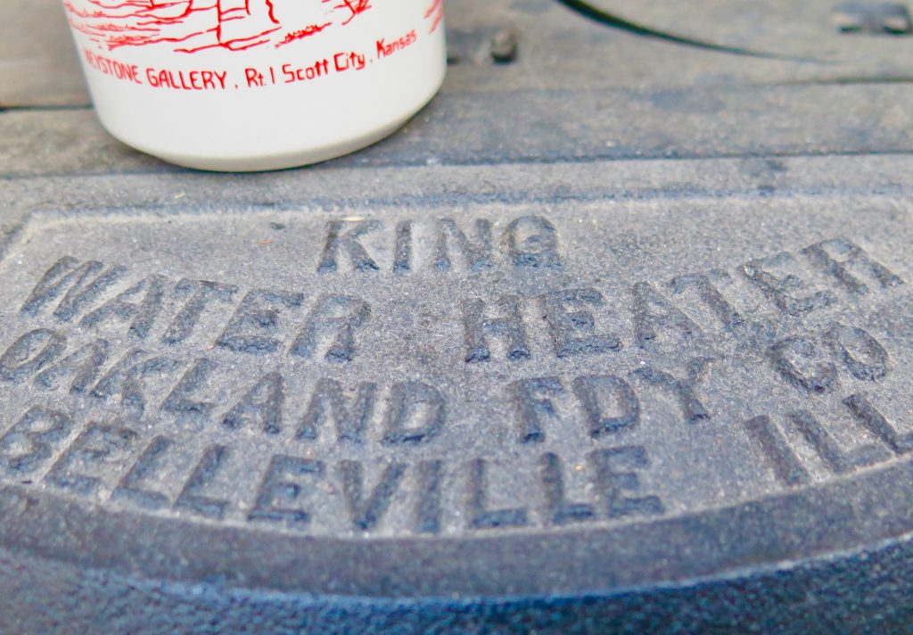 King wood fired water heater